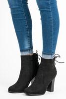 Elegantní kotníkové boty na sloupku