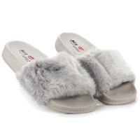 Dámské domácí pantofle s kožíškem