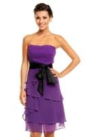 Dámské plesové šaty s mašlí fialové