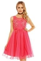 Dámské společenské šaty růžové