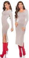 Úpletové šaty dlouhé