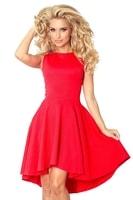 Elegantní červené šaty s širokou sukní