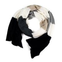 Pruhovaný mohérový šál