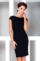 Elegantní černé šaty s krátkým rukávem