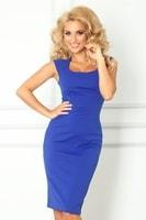 Modro fialové elegantní dámské šaty
