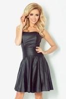 Černé korzetové šaty s nabíranou sukní