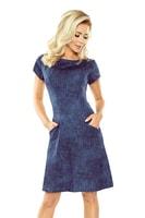 Džínové šaty s krátkými rukávy tmavé