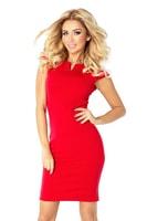 Červené byznys šaty