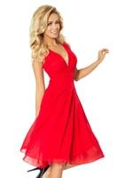 Šifónové červené šaty