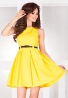 Citronově žluté dámské šaty