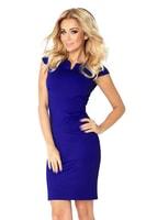 Modro fialové byznys šaty