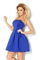 Fialovo-modré korzetové šaty bez ramínek