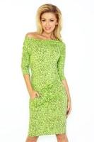Zelené sportovní šaty se vzorem
