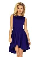 Exkluzivní modrofialové společenské šaty