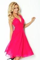Růžové šifónové šaty