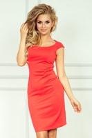 Korálové pouzdrové šaty