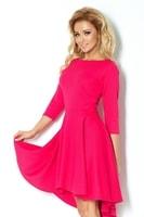 Dámské růžové šaty s ¾ rukávy