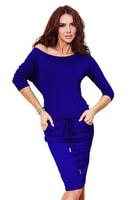 Modro-fialové sportovní šaty