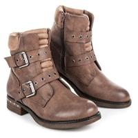 Kotníkové boty na nízkém podpatku
