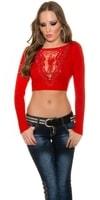 Červený svetr dámský