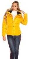 Dámská žlutá zimní bunda