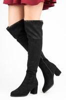 Černé kozačky nad koleno