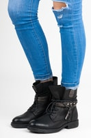 Černé kotníkové boty na zip