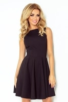 Černé dámské šaty na jedno rameno