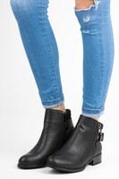 Kotníkové boty se zvířecím vzorem černé