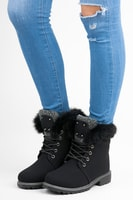 Zateplená zimní obuv se šněrováním