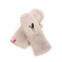 Béžové rukavice Zimní radost