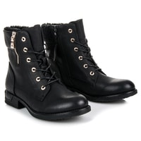 Kotníkové boty se šněrováním černé