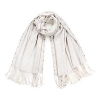 Šátek zdobený perličkami bílý
