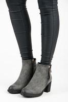 Nízké kotníkové boty na sloupku šedé