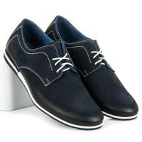 Vázané boty Lucca modré