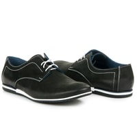 Vázané boty Lucca černé