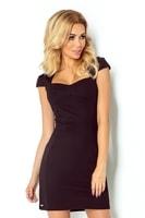 Černé šaty s výstřihem
