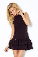 Černé šaty s volánky
