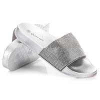 Nazouváky s kamínky šedé