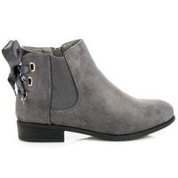 Nízké kotníkové boty se stužkou šedé