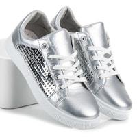 Stříbrné vázané tenisky