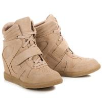 Hnědé sneakery na suchý zip