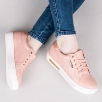 Sportovní boty na platformě růžové