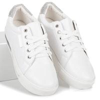 Sportovní boty na platformě bílé