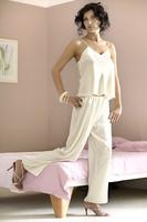 Saténové pyžamo Iga vanilkové