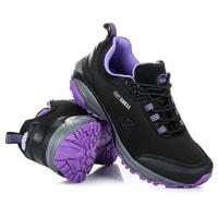 Sportovní softshell boty černofialové