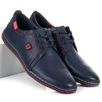 Pánské šněrovací boty modré