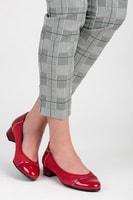 Casual boty na nízkém podpatku červené