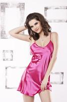 Saténová košilka Karen pink růžová