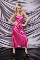 Satenová košilka Iga pink růžová